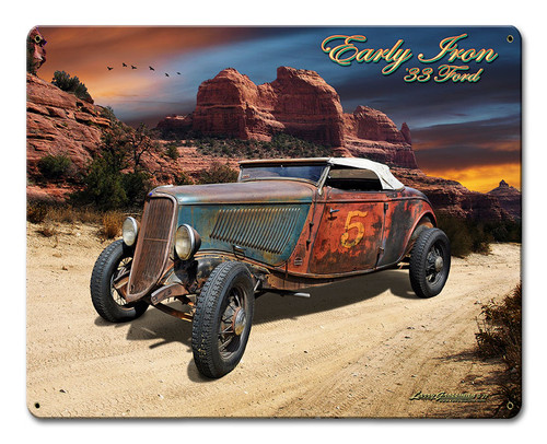 33 Ford Early Iron Metal Sign 15 x 12 Inches