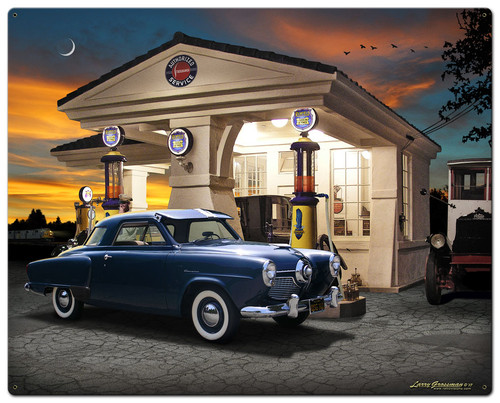1950 Studebaker Metal Sign 24 x 30 Inches