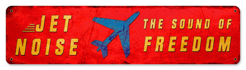 Jet Noise Sound Of Freedom Metal Sign 20 x 5 Inches