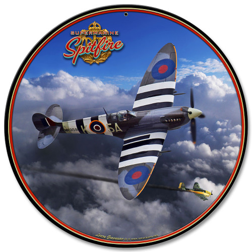 Spitfire Metal Sign 14 x 14 Inches