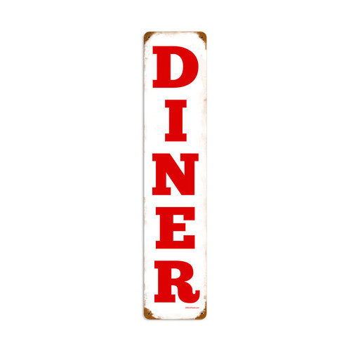 Diner Metal Sign 6 x 28 Inches