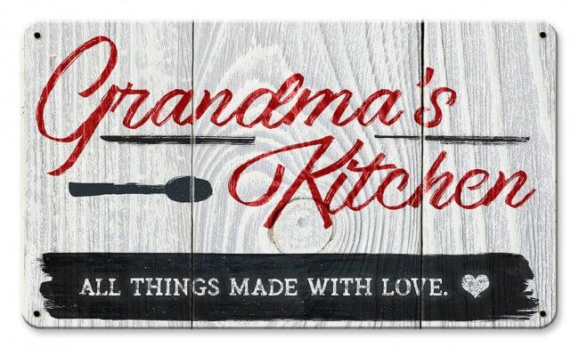 Grandma\'s Kitchen Metal Sign 14 x 8 Inches
