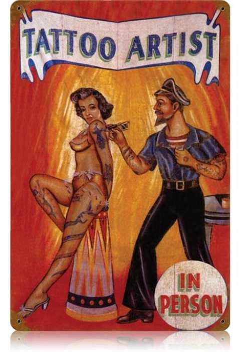 VINTAGE STYLE METAL SIGN Pinup Girl  Arabian Nights  18 x 12