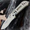 "TOPS MIL-SPIE 3.5, 3.5"" N690Co Plain Blade, Coyote Tan Aluminum Handle"