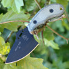 Tops Wolf Pup XL TPWP011. 7 1/2 in., Black Traction Coating, Black Micarta