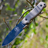 ESEE Laser Strike Tactical Gray Plain Edge, LS-P-TG, Olive Drab Micarta Handles, Black Kydex Sheath