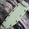 ESEE Model 6 Combo Edge, Rounded Pommel, Green Sheath w/ Clip Plate