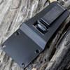 ESEE Knives, 6P-TG Tactical Gray Plain Edge, Rounded Pommel, Linen Micarta Handles, Black Molded Sheath