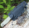 ESEE Laser Strike Knife, Plain Edge, Black Kydex Sheath, Fire Steel and Tinder Tabs Included In Handle