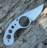 Fred Perrin La Griffe Neck Knife,12C27 Stainless Steel, Plain Edge, Kydex Sheath