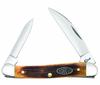 "Case  Mini Copperhead 25152 Barnboard Antique Bone, 3 1/8"" Closed Length SS Blades"