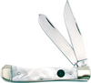 """Hen & Rooster Knives 312CI Trapper, 4 1/8"""" Closed SS Blade, Cracked Ice Cellulid Handle"""