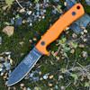 "ESEE-AGK Ashley Game Knife, 3.5"" 1095 High Carbon Steel, Orange G-10 Handle"