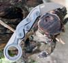 "CRKT 4040E Kinematic Karambit, 2.41"" D2 Plain Blade, Aluminum Handle"