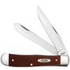 """Case Trapper CA11790, 4 1/8"""" Clip and Spey Blades, Smooth Brown Synthetic Handle"""
