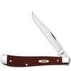 "Case Slimline Trapper CA11796, 4 1/8"" Clip Blade, Smooth Brown Synthetic Handle"