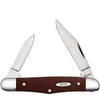 "Case Half Whittler CA11797, 3 1/4"" Clip and Pen Blades, Smooth Brown Synthetic Handle"