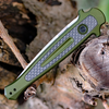 "Kershaw 7150OLSW Launch 8, 3.5"" CPM 154 Plain Blade, Olive Green Aluminum/Carbon Fiber Insert Handle"