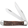 "Case Valley Trapper 49953, 4 1/8"" Closed Length SS Blade, Jig Natural Bone Handle"