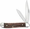 "Case Valley Peanut 49955, 2 7/8"" Closed Length SS Blade, Jig Natural Bone"