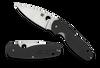 "Spyderco Emphasis C245GP, 3.58"" 8Cr13MoV Satin Plain Blade, G-10 Handle"