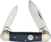 Rough Ryder RR1949 Blue Smooth Bone Canoe,  Stainless Steel,  Smooth Bone Hanle