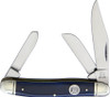Rough Ryder RR1954 Stockman Blue Smooth Bone, Stainless Steel,  Bone Handle