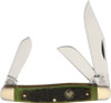 Hen & Rooster HR313AGB Stockman Antique Green Bone, Stainless Steel, Jigged Bone Handle