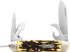 Schrade SCH23UH Uncle Henry Traditional Scout, Stainless Steel, Brown Jigged Delrin Handle