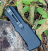 "HK Mini Incursion OTF Automatic: 2.95"" Clip Point Black Blade, Matte Black Aluminum Frame"