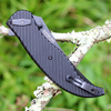 "CRKT 2640 CLEVER GIRL FOLDER, 4.08"" D2 Steel Black Plain Blade, G10 Handle"