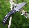 """Spyderco Dragonfly 2 Wharncilffe C28FPWCBK2, 2.28"""" VG-10 Blade,  Black FRN Handle"""