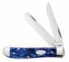 "Case 23432, Mini Trapper 3 1/2"" closed blade, Blue Pearl Kirinite Handle"