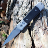 "ProTech 700 C.F.Godson, 3.15"" 154 CM Spear Point, Aluminum/Carbon fiber Inlay Handle"