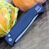 ProTech 1220 Brend Auto #2, 154-CM Beadblast Plain Blade, Black Aluminum Handle