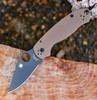 "Copy of Spyderco C223GPBNBK  Para-Military 3 , 2.95"" CPM S35-VN Black Plain Blade, Earth Brown G-10 Handle"