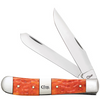 "Case Trapper CA14480, 4 1/8"" Clip and Spey Blades, Tequila Sunrise Bone Handle"