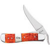 "Case Russlock CA14485, 4 1/4"" One Hand Opening Clip Blade, Tequila Sunrise Bone Handle"