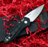 "ProTech 2905 Sprint, 2"" S35VN Spear Point Stonewash Blade, Black Aluminum Handle"