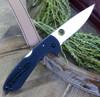 "Spyderco Siren C247GP, 3.6"" LC200N Steel Satin Plain Blade, Black G-10 Handles"