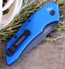 "Kershaw Launch 1 KS7100BLUBW, 3.4"" CPM154 Blackwash Finish Blade, Black Anodized Handle,"