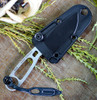 ESEE Imlay Rescue Knife, 440 SS w/ Black Sheath, Clip Plate and Retention Strap