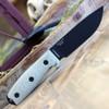"ESEE-4 4PB-017 4.5"" 1095 Carbon Steel Black Plain Blade, Green Canvas Micarta 3D Handle, Black Sheath"