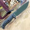 "ESEE-6 6POD-003, 5.75"" 1095 Carbon Steel OD Green Plain Blade, OD Green/Black 3D Handle, Black Molded Sheath"