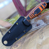 "ESEE Xancudo XAN2-006, 3.0"" S35VN Stonewash Plain Blade, Orange/Black G10 3D Handle (no Hole), Black Sheath"
