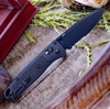 "Benchmade Bugout 535SBK-2, 3.24"" CPM-S30V Carbon Coated Part Serrated Blade, CF-Elite Handle"
