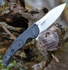 "CRKT Linchpin Deadbolt Lock CR5405, 3.734"" 1.4116 Plain Blade, Glass Reinforced Nylon Handle"