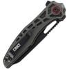 "CRKT Thero Linerlock CR6290, 3.083"" 8Cr14MoV Plain Blade, Black Glass Reinforced Nylon Handle"