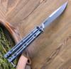 """Kershaw Lucha KS5150, 4.6"""" Sandvik 14C28N Stonewash  Blade, Stainless Steel Handle"""