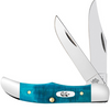 Case Pocket Hunter 25591 Caribbean Blue Jig Bone Handle (62165 SS)